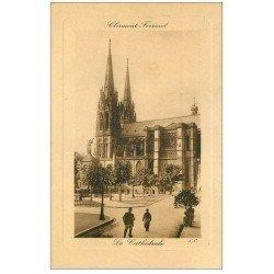 carte postale ancienne 63 CLERMONT-FERRAND. La Cathédrale