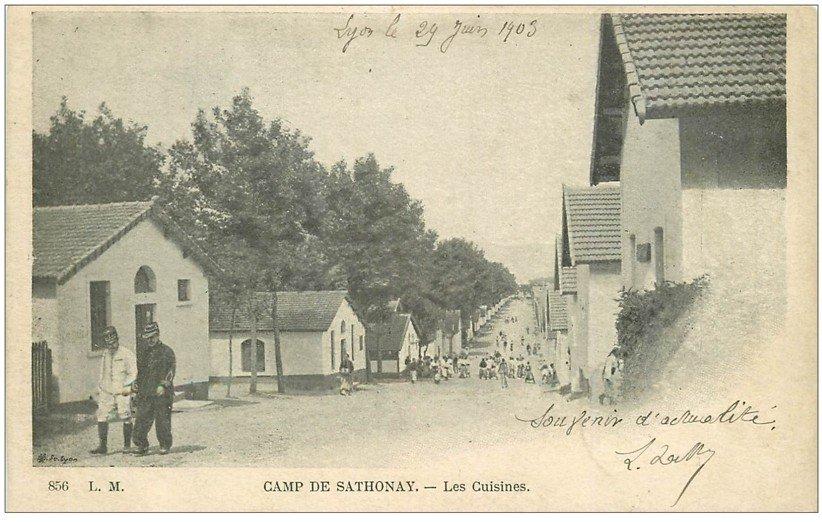 carte postale ancienne 01 Col de Sathonay. Les Cuisines 1903. Militaires et Casernes