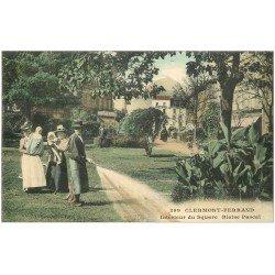 carte postale ancienne 63 CLERMONT-FERRAND. Nurses et Jardinier Square Blaise Pascal