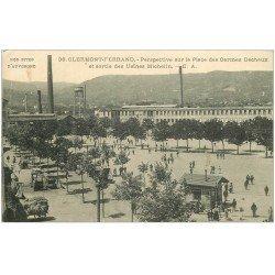 carte postale ancienne 63 CLERMONT-FERRAND. Sortie des Usines Michelin Place Carmes Déchaux