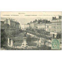 carte postale ancienne 63 CLERMONT-FERRAND. Square Blaise Pascal 1906
