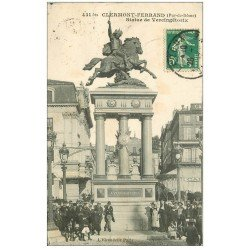 carte postale ancienne 63 CLERMONT-FERRAND. Statue Vercingétorix vers 1910