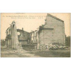carte postale ancienne 02 VIERZY. La Gare détruite 1914