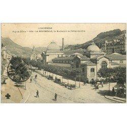 carte postale ancienne 63 LA BOURBOULE. Boulevard de l'Hôtel de Ville 1911
