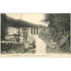 carte postale ancienne 63 LA BOURBOULE. Chute au Barrage Usine Electrique 1907