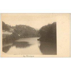 carte postale ancienne 63 LA BOURBOULE. La Dordogne. Prototype pour Cartes Postales. Papier épais de qualité