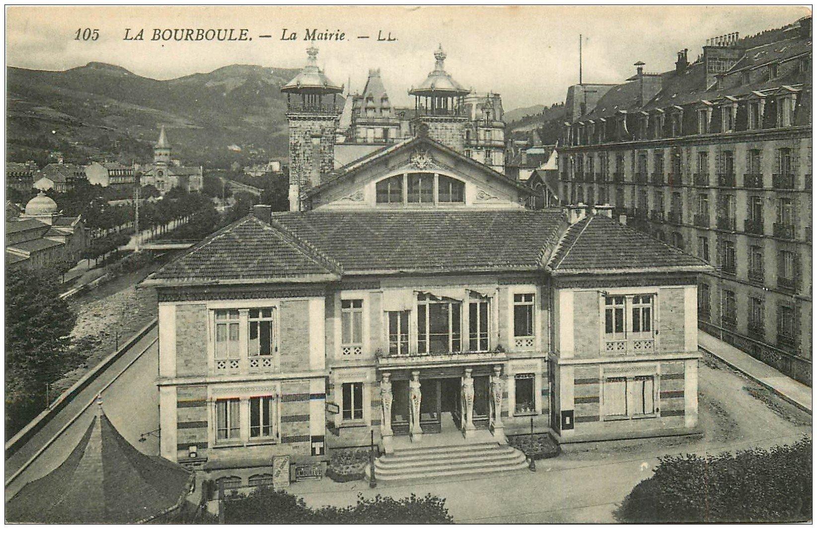carte postale ancienne 63 LA BOURBOULE. La Mairie