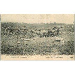carte postale ancienne 02 VILLERS-COTTERETS environs. Avion Allemand descendu.