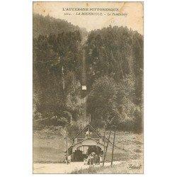 carte postale ancienne 63 LA BOURBOULE. Le Funiculaire 1934