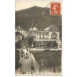 carte postale ancienne 63 LA BOURBOULE. Lot de 10 Cpa. Casino et Funiculaire, Barrage, Plateau Charlannes, Place Jaude, Quais...
