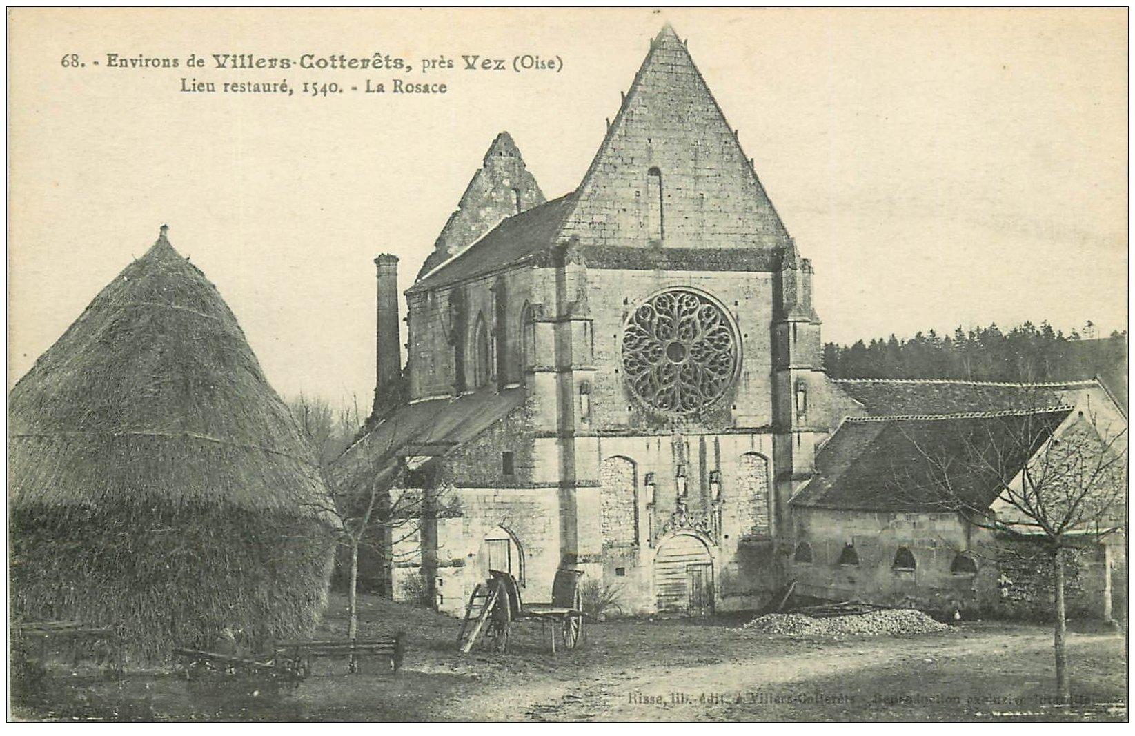 carte postale ancienne 02 VILLERS-COTTERETS environs. La Rosace près Vez 1918
