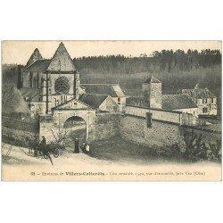 carte postale ancienne 02 VILLERS-COTTERETS. Attelage près Vez