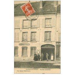 carte postale ancienne 02 VILLERS-COTTERETS. Banque Société Générale 1911