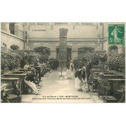 carte postale ancienne 63 LE MONT DORE. Bains de Pieds 1914 Etablissement Thermal