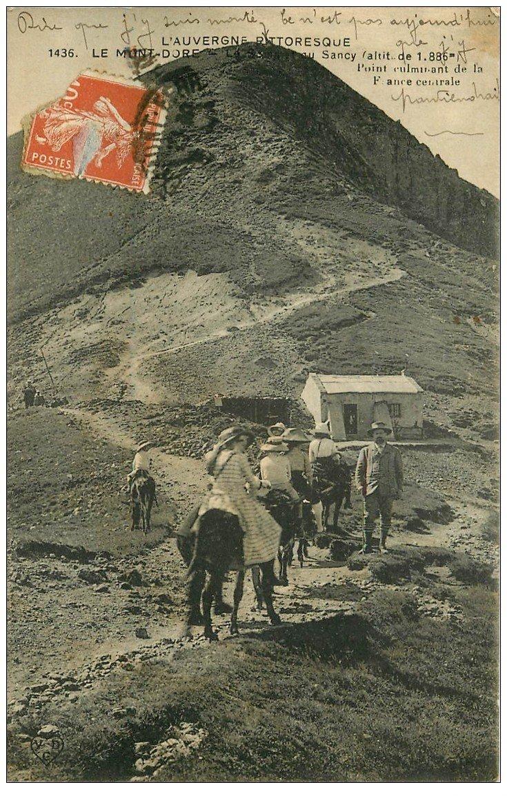 carte postale ancienne 63 LE MONT DORE. Ballade sur Anes Plateau de Sancy 1916