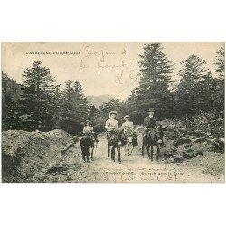 carte postale ancienne 63 LE MONT DORE. Ballade sur Anes route de Sancy 1916
