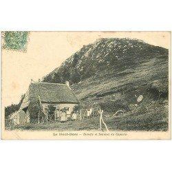 carte postale ancienne 63 LE MONT DORE. Buvette et Sommet du Capucin 1907 animation