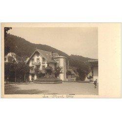 carte postale ancienne 63 LE MONT DORE. Fontaine sur la Place. Prototype pour future Carte Postale.