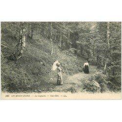 carte postale ancienne 63 LE MONT DORE. Le Capucin Sous-Bois 1920