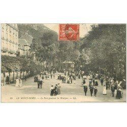 carte postale ancienne 63 LE MONT DORE. Lot de 8 Cpa. Kiosque à Musique, Funiculaire, 3 Diables, Cascade...