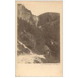 carte postale ancienne 63 LE MONT DORE. Prototype pourfuture Carte Postale. Grande Cascade
