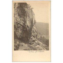 carte postale ancienne 63 LE MONT DORE. Rochers Grande Cascade. Prototype pour future Carte Postale.