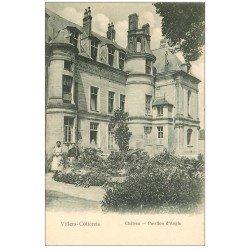 carte postale ancienne 02 VILLERS-COTTERETS. Château Pavillon d'angle. Carte pionnière vers 1900 vierge