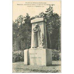 carte postale ancienne 02 VILLERS-COTTERETS. Monument aux Soldats Anglais