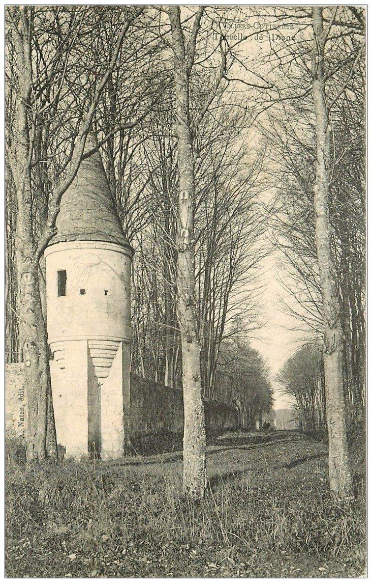 carte postale ancienne 02 VILLERS-COTTERETS. Tourelle de Diane 1904