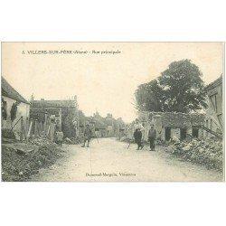 carte postale ancienne 02 VILLERS-SUR-FERE. Rue Principale 1921