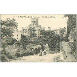 carte postale ancienne 63 ROYAT. Abside Eglise Route de la Vallée 1916