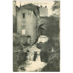 carte postale ancienne 63 ROYAT. Cascade de la Tiretaine