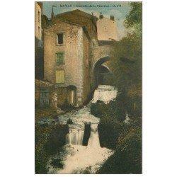 carte postale ancienne 63 ROYAT. Cascade de la Tiretaine 1917