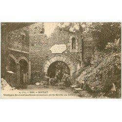 carte postale ancienne 63 ROYAT. Grotte du Chien. Vestiges Romains