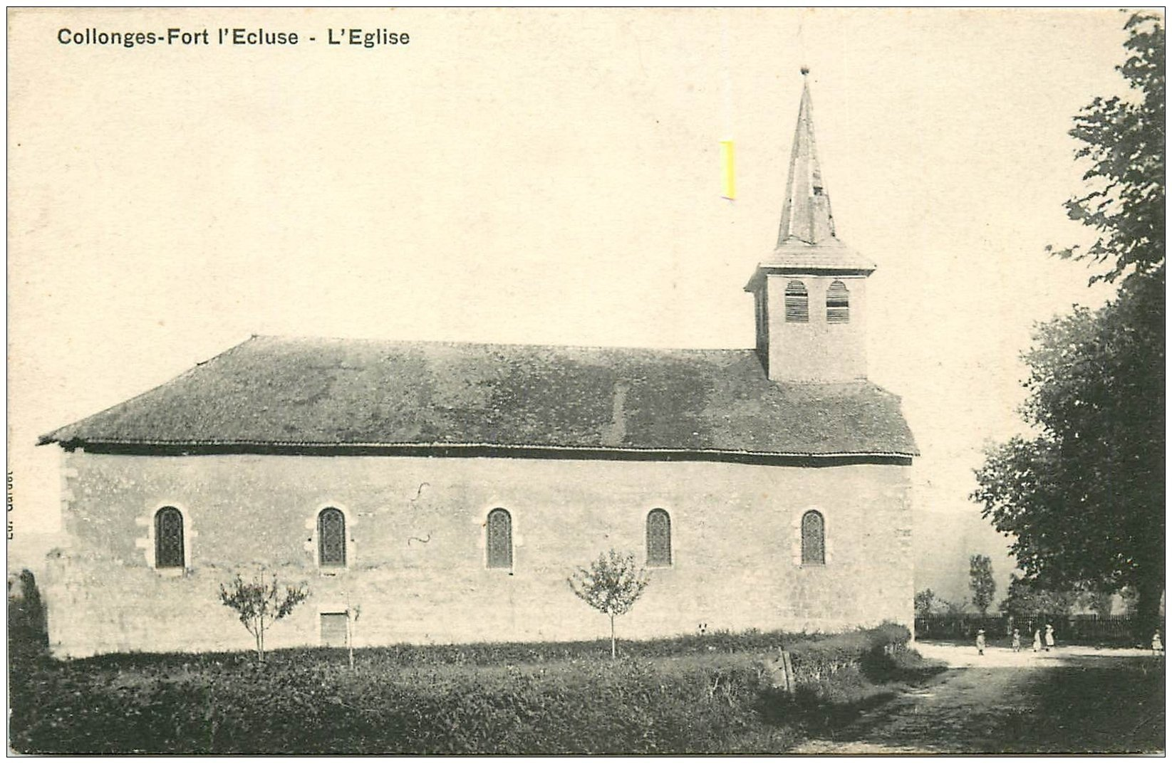 carte postale ancienne 01 Collonges-Fort-l'Ecluse. L'Eglise