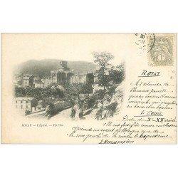 carte postale ancienne 63 ROYAT. L'Eglise. Carte pionnière 1903 Timbre 1 Centime verso vierge...