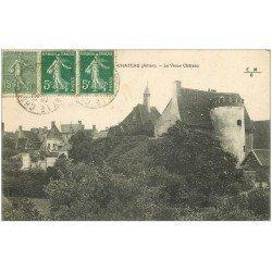 carte postale ancienne 03 AINAY-LE-CHATEAU. Le Vieux Château 1921