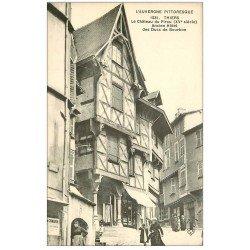 carte postale ancienne 63 THIERS. Château du Pirou Hôtel des Ducs de Boubon