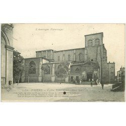 carte postale ancienne 63 THIERS. Eglise Saint Genès 1919