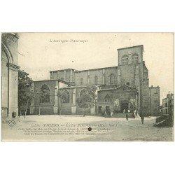 carte postale ancienne 63 THIERS. Eglise Saint Genès 1919