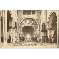 carte postale ancienne 63 THIERS. Eglise Saint Genès 1933