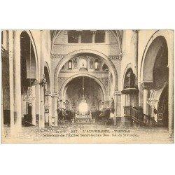 carte postale ancienne 63 THIERS. Eglise Saint Genès 1933