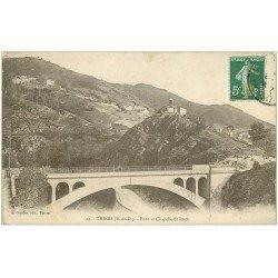 carte postale ancienne 63 THIERS. Le Pont et Chapelle Saint-Roch