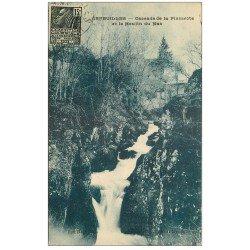 carte postale ancienne 03 ARFEUILLES. Cascade Pisserote et Moulin du Mas 1931