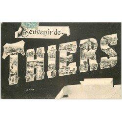 carte postale ancienne 63 THIERS. Souvenir 1907
