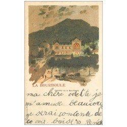 carte postale ancienne Rare et Superbe 63 LA BOURBOULE. Le Casino. Carte Pionnière 1900