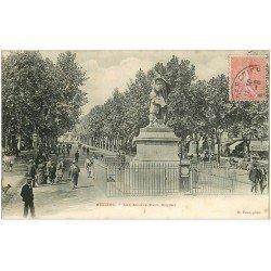 carte postale ancienne 34 BEZIERS. Allées Paul Riquet 1906. Balance pour pesée à pièce