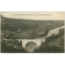 carte postale ancienne 01 Collonges-Fort-l'Ecluse. Pont Carnot et Vallée du Rhône