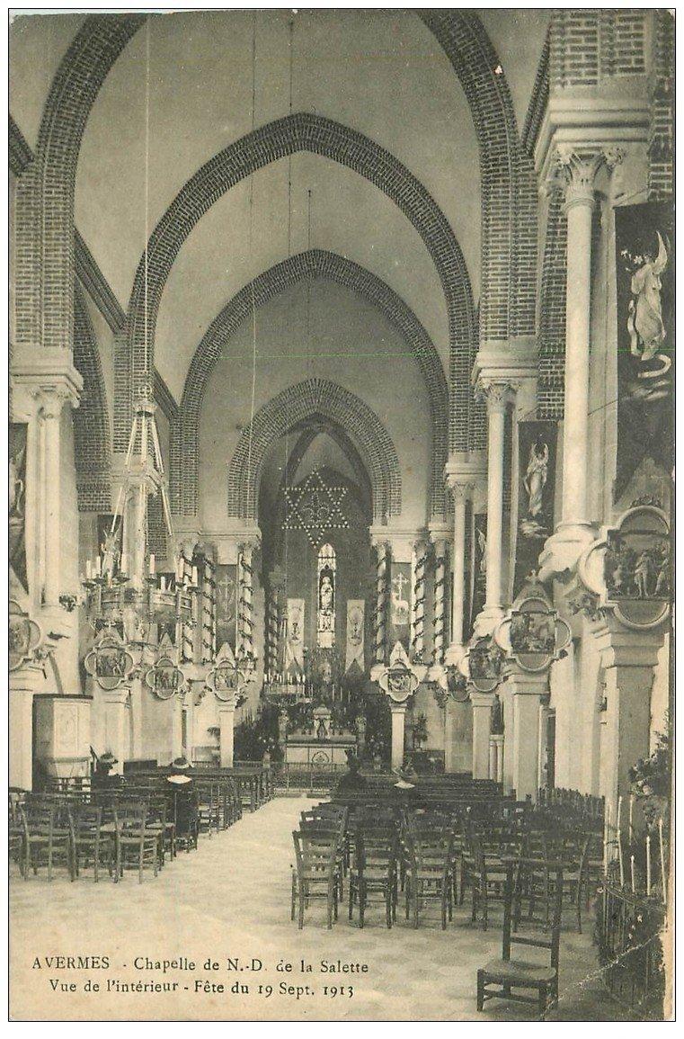carte postale ancienne 03 AVERMES. Chapelle Notre-Dame de la Salette 1914