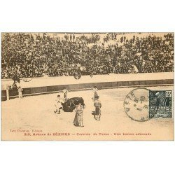 carte postale ancienne 34 BEZIERS. Arènes Corrida. Estocade 1931